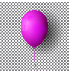 purple realistic balloon violet ball isolated on vector image