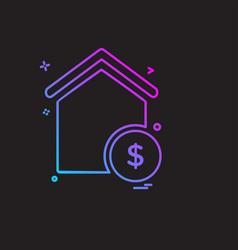 real estate icon design vector image