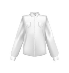 realistic detailed 3d template blank white shirt vector image