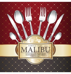 Restaurant menu design on Royal background vector