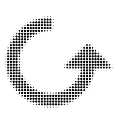 rotate halftone icon vector image