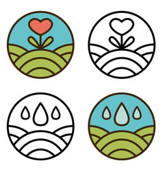 round eco logo vector image