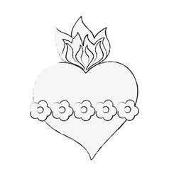 sacred heart cartoon vector image