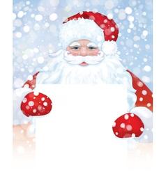 santa blank snowfall vector image