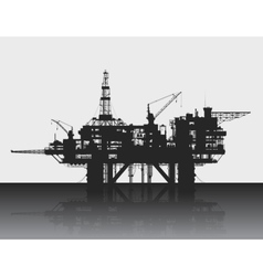 Sea oil rig Oil platform in the deep sea Detailed vector image vector image