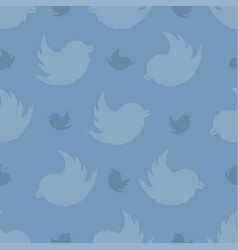 seamless pattern from birds on a on a on a pastel vector image