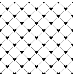Seamless simple pattern with hearts vector