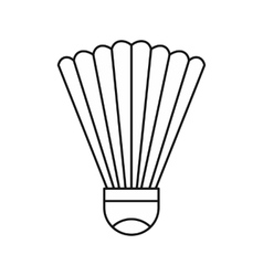 Shuttlecock icon in outline style vector image
