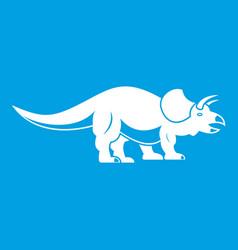 Styracosaurus icon white vector