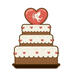 Sweet cake love celebration vector