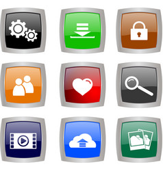 tech buttons vector image