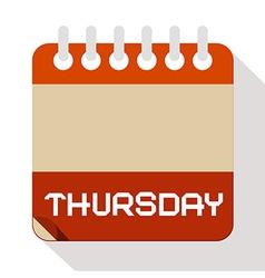 Thursday Paper Calendar vector
