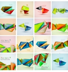 Triangle geometric shapes in the air vector image
