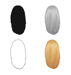 White dissolvedback hairstyle single icon in vector