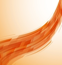 Abstract orange wave technology background vector image