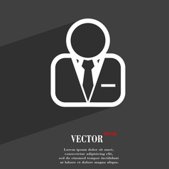 Avatar icon symbol Flat modern web design with vector image