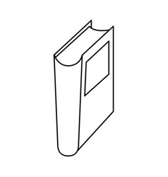 book library read learn thin line vector image