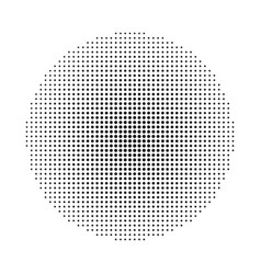 circle halftone background vector image