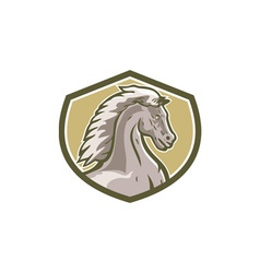 Colt Horse Head Side Shield Retro vector image vector image