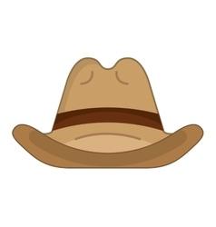 hat cowboy wild west icon vector image