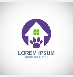 house pet dog logo vector image vector image