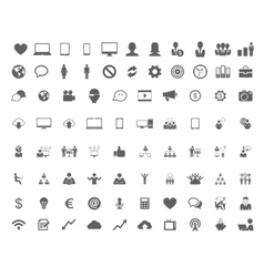 Technology set of flat icons vector image