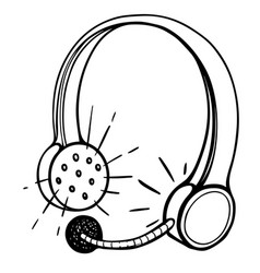cartoon image of call center headset vector image vector image