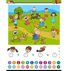 mathematical calculating activity vector image vector image