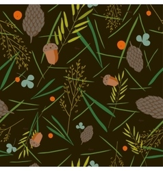 pattern with the image of the forest cones fir vector image vector image