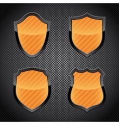 shield emblems vector image vector image