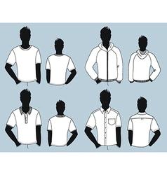 man clothes design vector image vector image