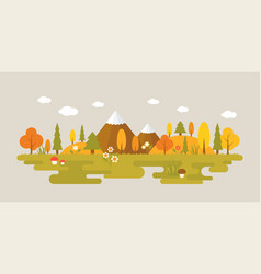 landscape of forest in autumn vector image vector image