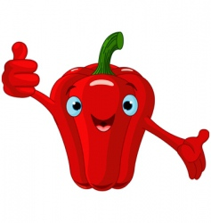 pepper character giving thumbs up vector image vector image
