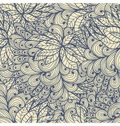 Seamless floral doodle pattern vector image vector image