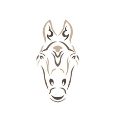 tribal horse vector image