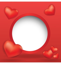 web design bubble with hearts vector image