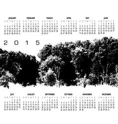 2015 Woods Calendar vector