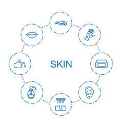 8 skin icons vector