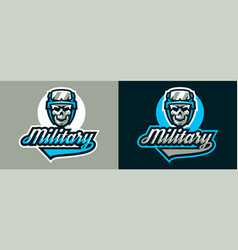 A set of logos on military theme soldier s vector