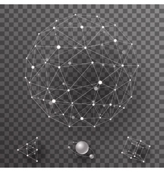 abstract polygonal wireframe contact connections vector image