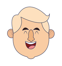 adult man smiling face vector image