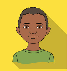 africanhuman race single icon in flat style vector image