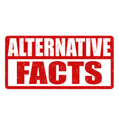 Alternative facts grunge rubber stamp vector