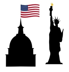 American Independence Day US symbols vector image