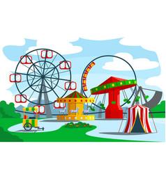 Amusement park territory vector