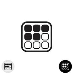 Array cells icon vector