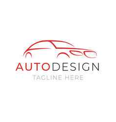 Auto logo template car service or dealer shop vector
