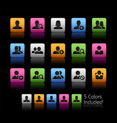 Avatar icons colorbox series vector