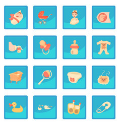 Baby born icon blue app vector