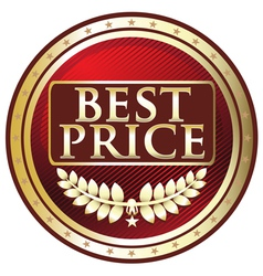 Best Price Red Label vector image